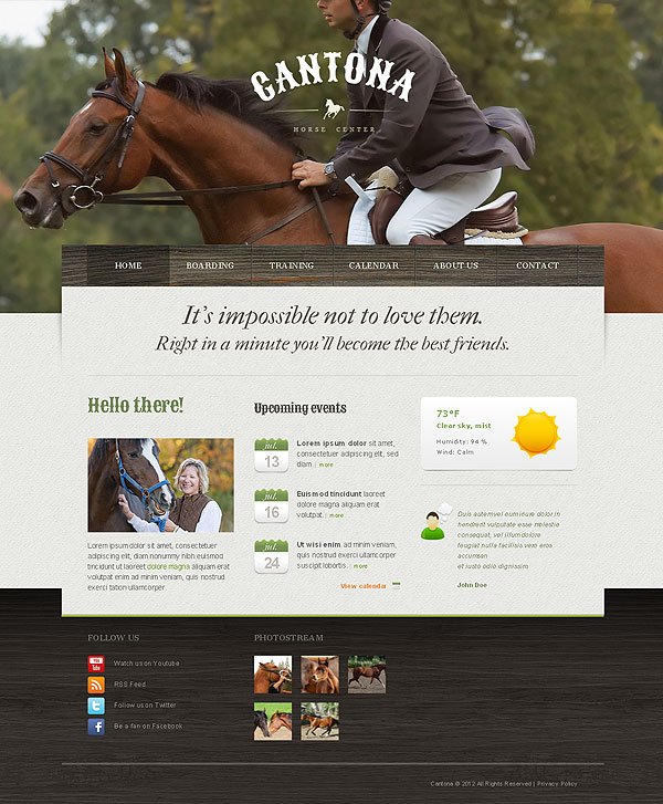 Horse Club Drupal Template
