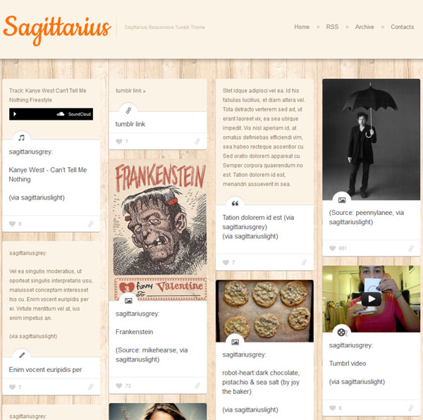 Minimalist Design Theme for Tumblr