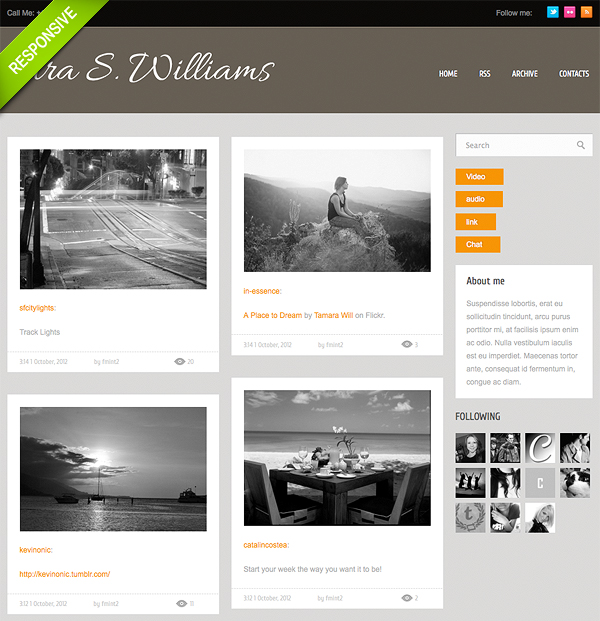 Gallery Portfolio Theme for Tumblr
