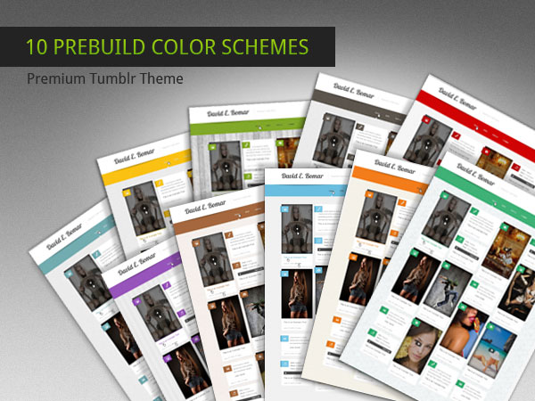 Multi-colored Premium Tumblr Theme