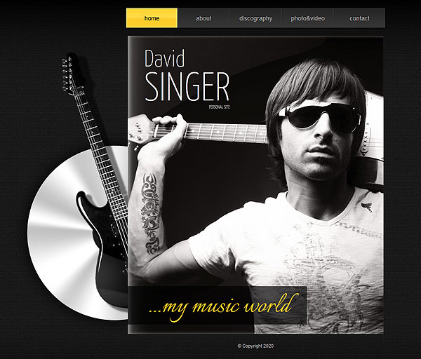 Singer Personal Website Template