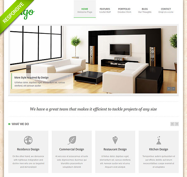 Interior Portfolio Wordpress Theme
