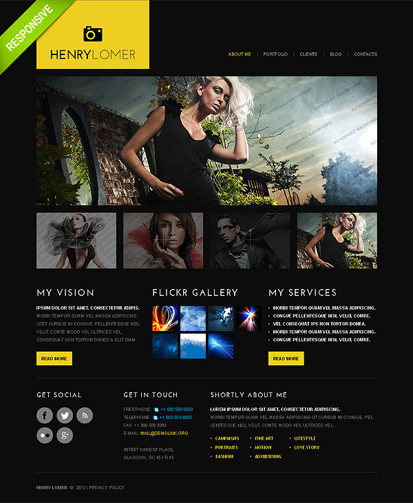 Model Agency Resposive Web Template