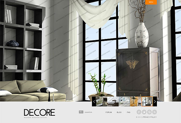 Modern Decor Flash Template