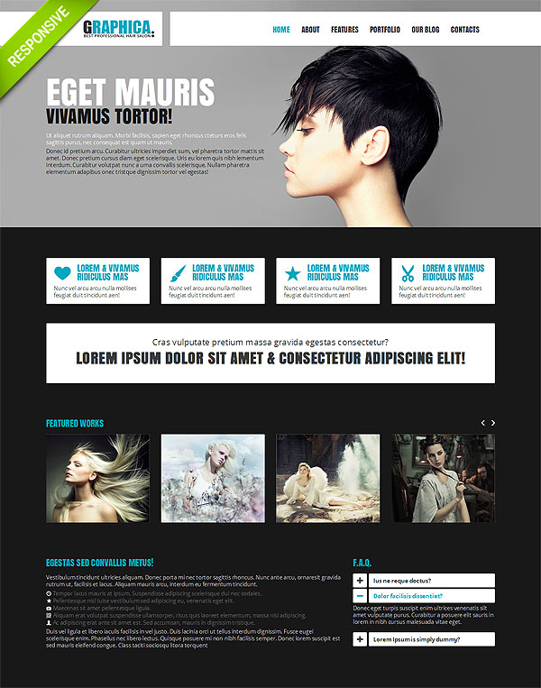 Hair Salon Twitter Bootstrap Template
