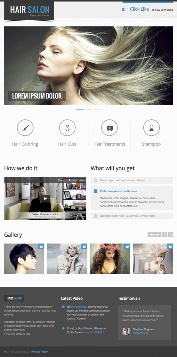 Hair Studio Facebook Template