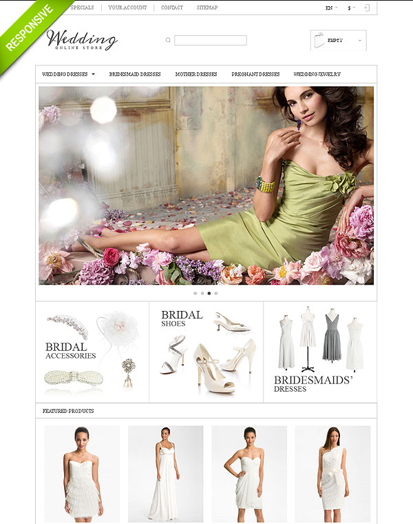 Wedding Store Template For Prestashop