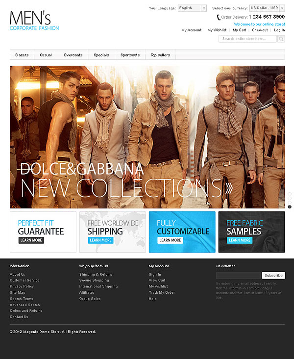 Man Fashion And Style Template For Magento