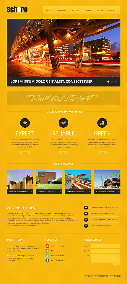 Company Projects Wordpress Theme