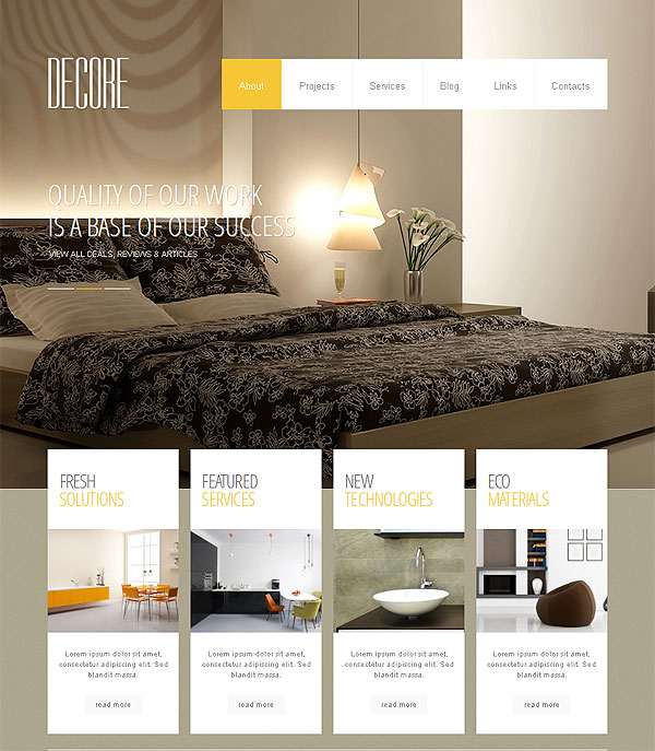 Interior Design Blog Wordpress Template