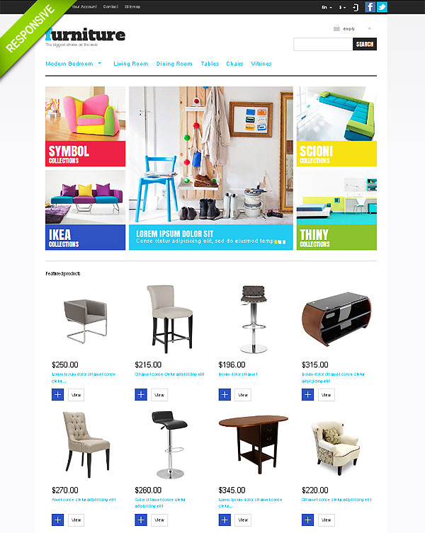 Furniture Store Theme For Prestashop