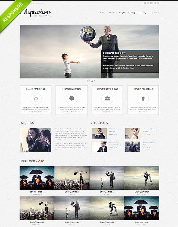 Clean Corporate Twitter Bootstrap Template