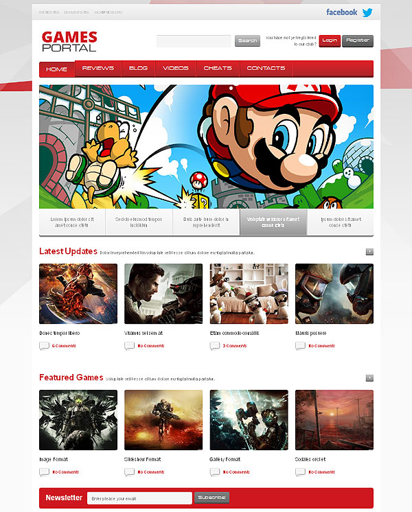Video Game News Wordpress Theme