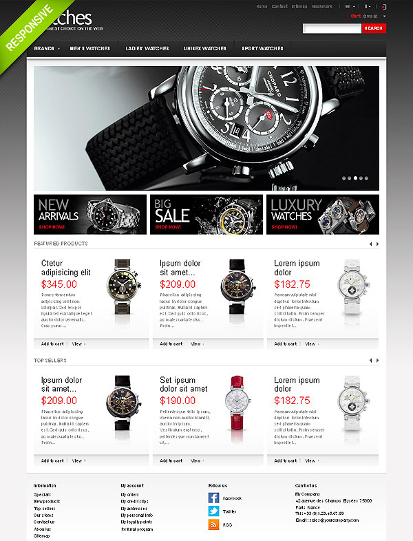 Luxury Watches Prestashop Template