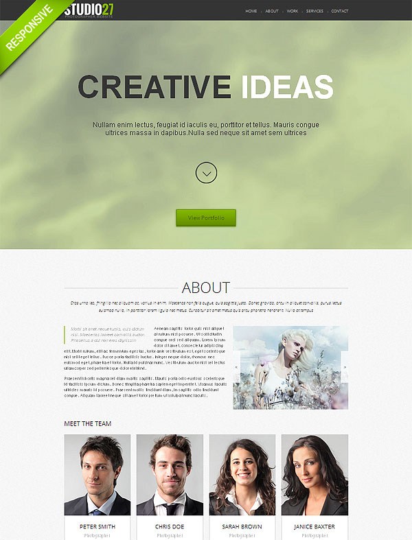 Photo Portfolio Responsive One Page Theme