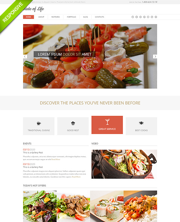 Restaurant Responsive Bootstrap Website Template