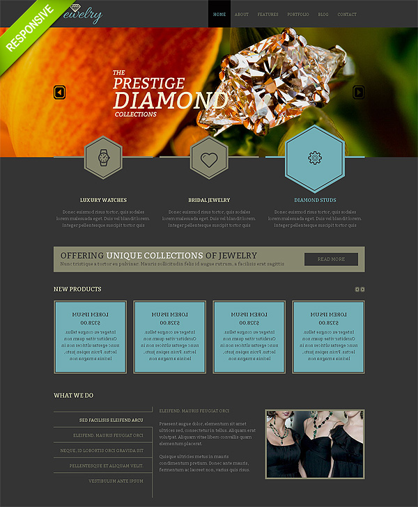 Jewelry Responsive Bootstrap Website Template