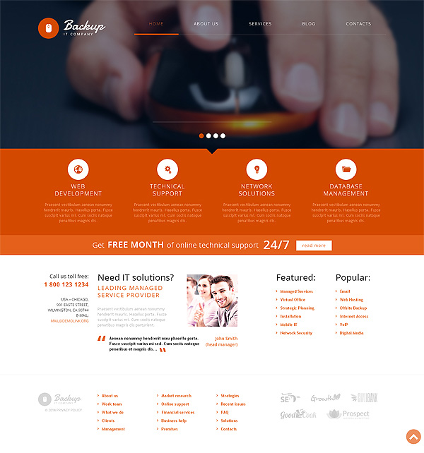 Technology IT Wordpress Theme