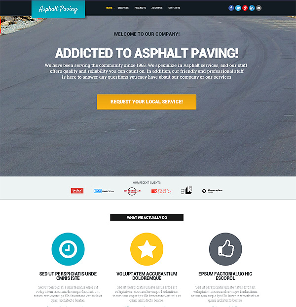 Asphalt Paving Website Template