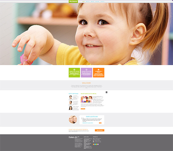 Child Family Css Template