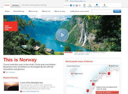 website du lịch -norway