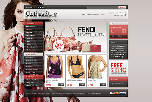prestashop theme clothes