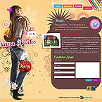 Personal web page PSD template