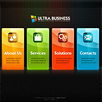 Ultra biz papervision 3d flash template