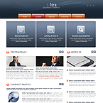 Ultra Business CMS flash template