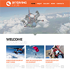 Skydiving Club Site Template