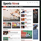 Sport News Template For Joomla